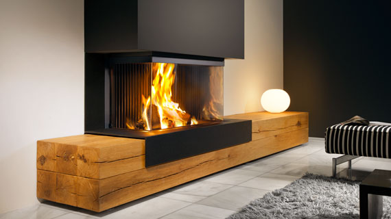 closed woodfires ue with bio ethanol haard hoekmodel. Black Bedroom Furniture Sets. Home Design Ideas